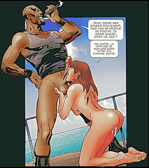 Un escort boy gay propose son bel outil à madame pendant que monsieur est voyeur pour l'occasion